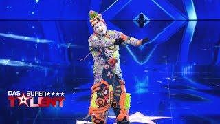 Bunter Clown quietscht Dieter die Meinung | Das Supertalent 2018 | Sendung vom 06.10.2018