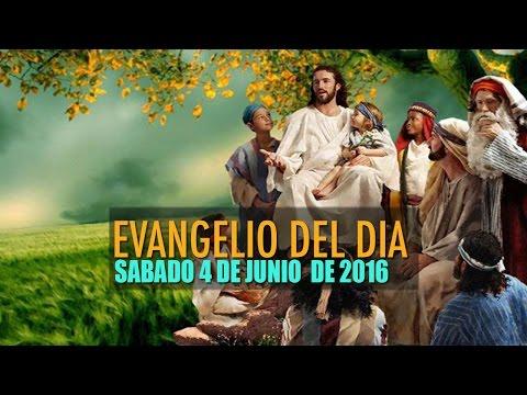 EVANGELIO DEL DIA SABADO 4 DE JUNIO DE 2016