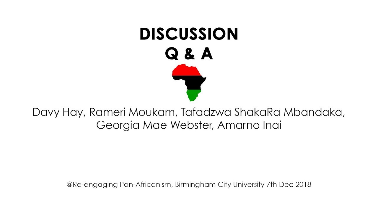 Q & A: Re-Engaging Pan Africanism, Psychology, Culture & Governance  (Re-Engaging Pan-Africa