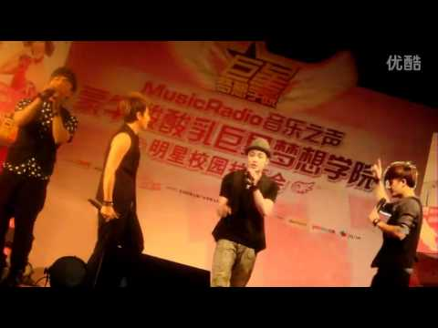 [120626] M.I.C English Song Mix @  Music Radio School Tour DaLian Stop (FanCam)