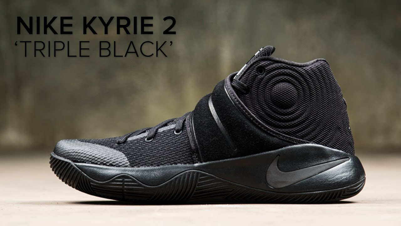 newest 6b70f 28884 Nike Kyrie 2 'Triple Black' Quick On Feet Look - YouTube