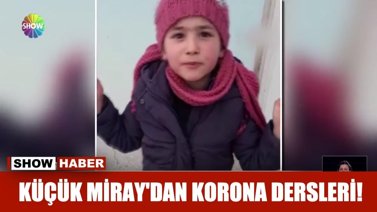 Küçük Miray'dan Korona dersleri!