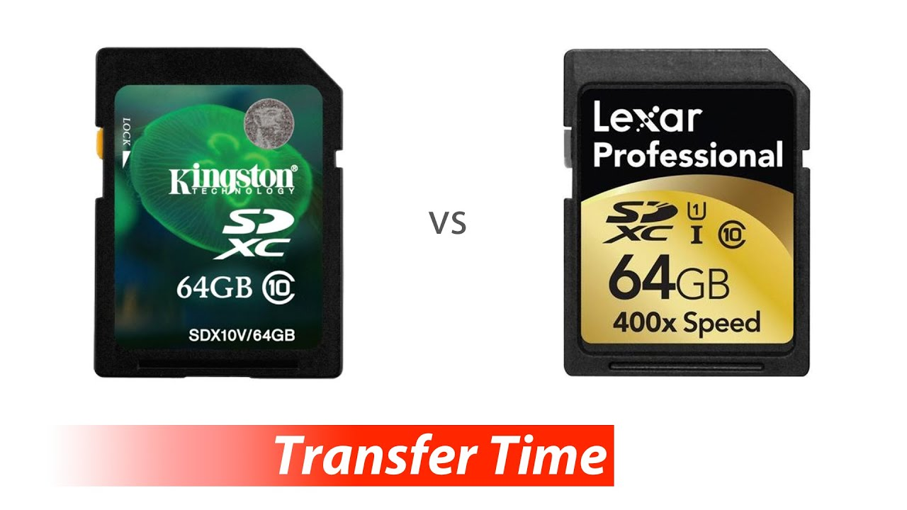 Data Transfer - Kingston 64GB SDHC/SDXC 30MB/s vs Lexar ...