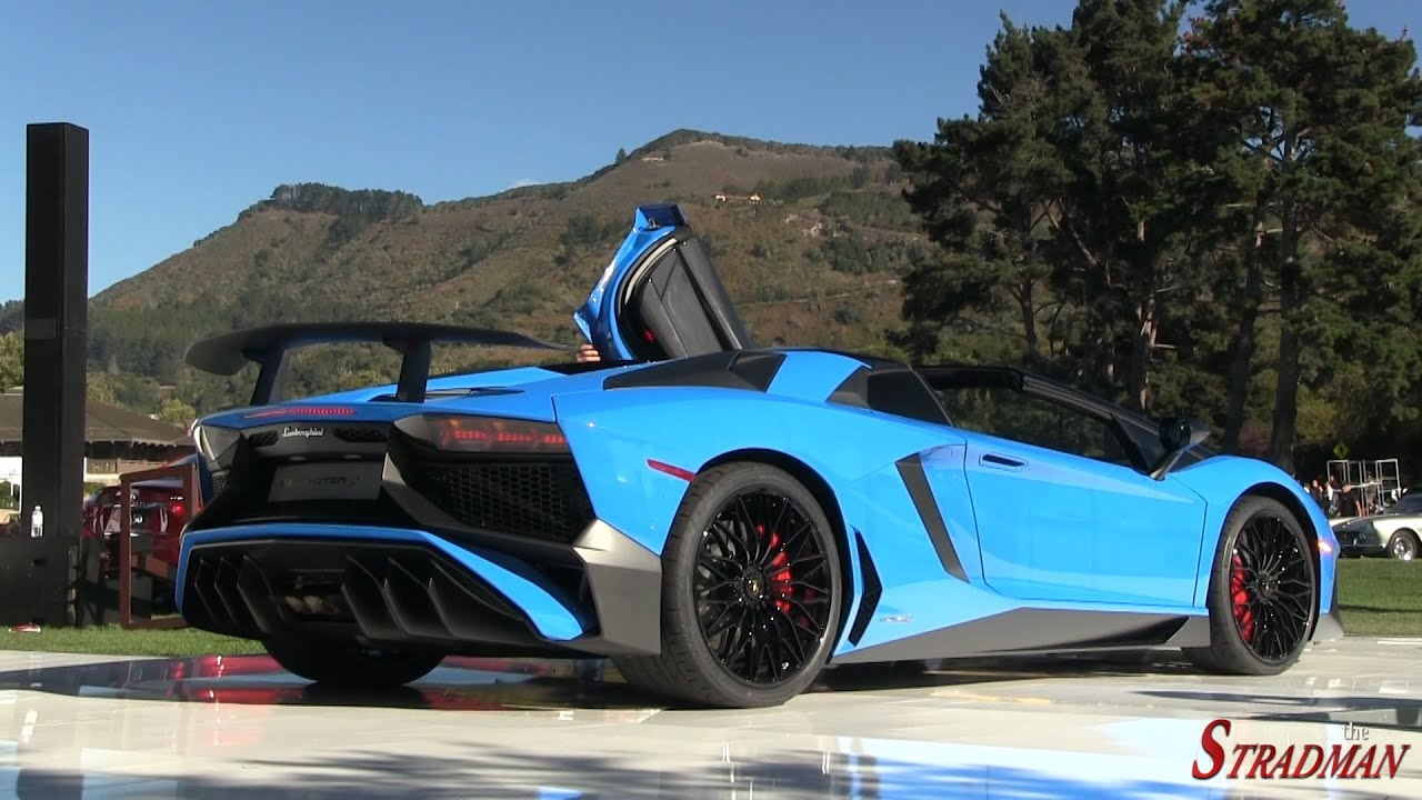 world premiere lamborghini aventador sv roadster start up revs driving youtube