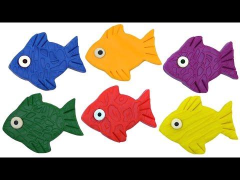 Смешные Рыбки из Плей До Play Doh. Учим Цвета. Мультик Про Рыбок. Поделки Для Детей