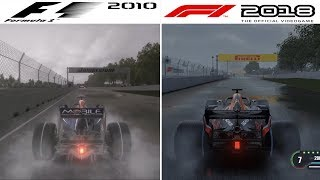 F1 Game Comparison (2010 - 2018 Rain Gameplay Comparison)