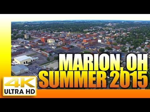 Marion Ohio by Air.  Summer 2015  4K Ultra HD