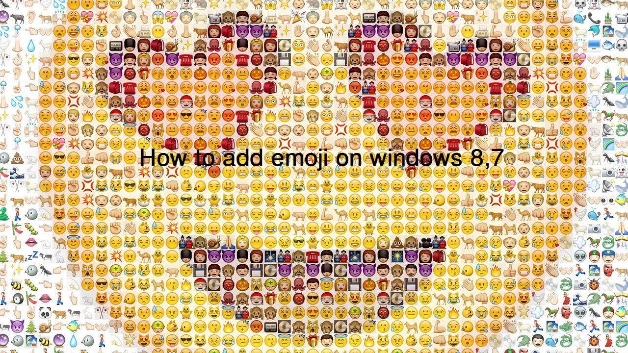 How to add emoji on windows 8,7 - YouTube