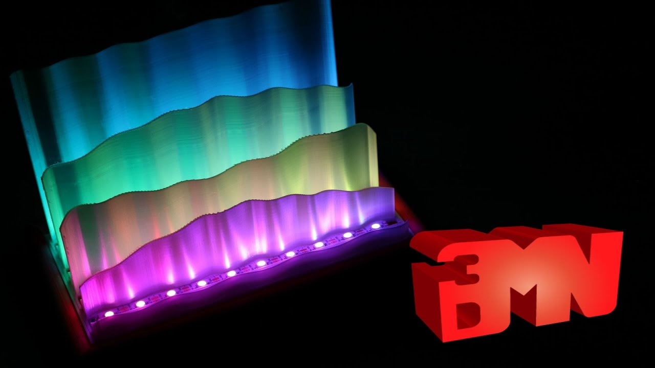 Printed Awesome Creation Northern Lights Led Lamp