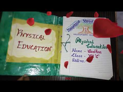 PHYSICAL EDUCATION PROJECT FILE FOR  CLASS 12 | FILE ON YOGA