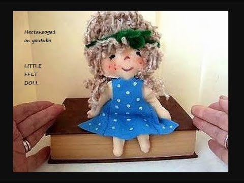 LITTLE FELT DOLL, how to diy, hand sewing pattern, free download ...