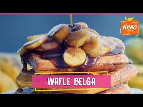 Waffle belga com calda de banana | Raíza Costa | Doce Califórnia