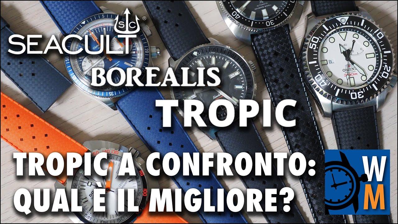 Cinturini Tropic: confronto tra Borealis, Seacult e The Tropic Strap