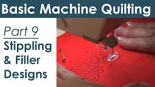 Stippling And Filler Patterns On Your Home Sewing Machine  Free Motion Quilting