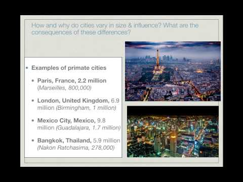APHG.7.3 - Rank-Size/Primate Cities- How & why do cities vary in size & influence?