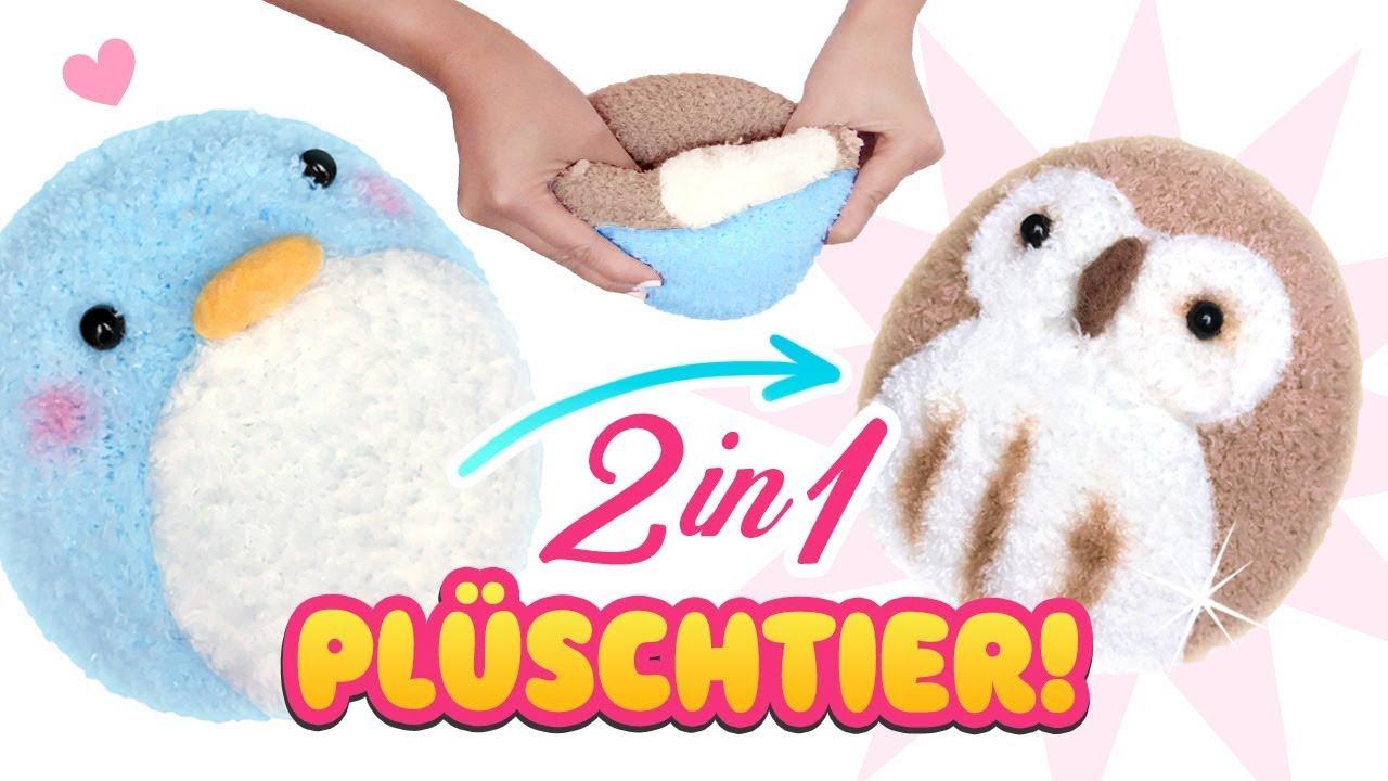 DIY 2 in 1 PLÜSCHTIER!!! 😍 Stofftier aus Socken! Einfach Spielzeug ...