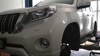 Проточка тормозных дисков без снятия автомобиля. Toyota Land Cruiser PRADO.