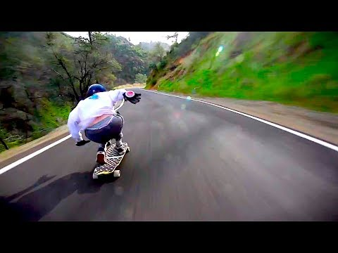 Downhill longboarding on highest speed! (best of the month) |April