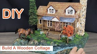 Build A Wooden Cottage using cardboard