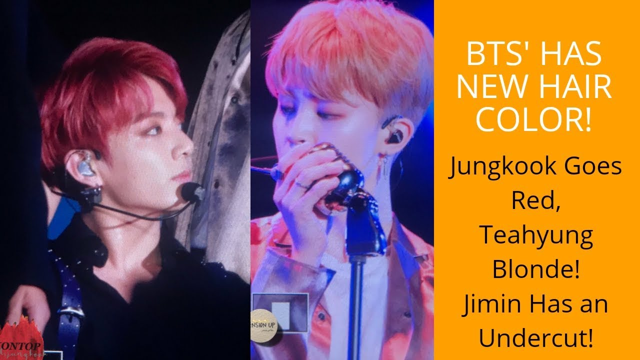 BTS New Hair Color at The Lotte Duty Free Concert! 22nd June, 2018
