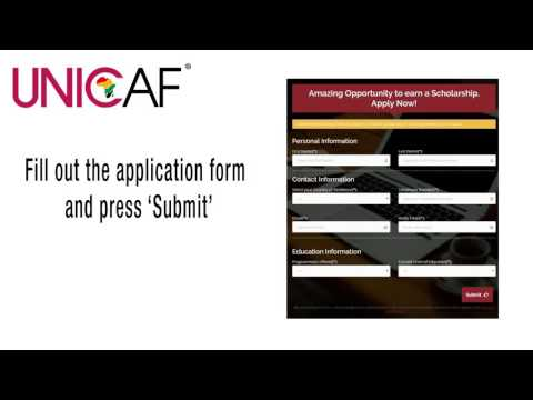 how to apply for a UNICAF Scholarship