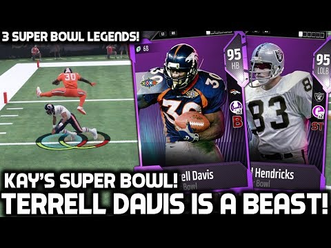 TERRELL DAVIS IS A BEAST! KAYKAYES' SUPER BOWL! Madden 18 Ultimate Team