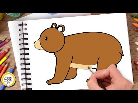 Hướng dẫn cách vẽ CON GẤU, Tô màu CON GẤU – How to draw a Bear