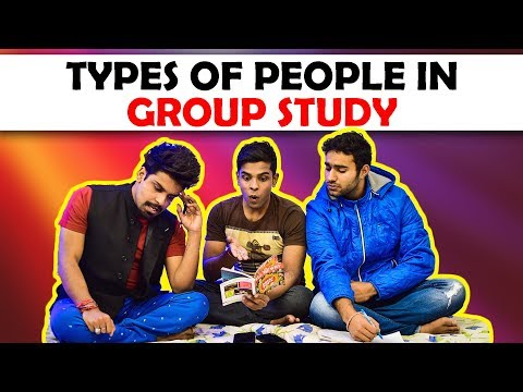 Types of People in Group Study | The Half-Ticket Shows