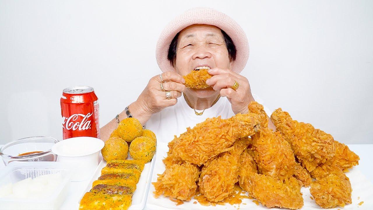 영원씨 포테킹 치킨, 치즈볼 먹방 ジャガイモチキン食う potato fried chicken mukbang ASMR