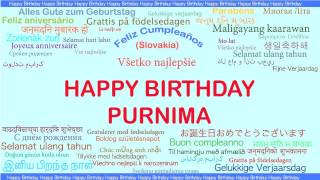 Purnima   Languages Idiomas - Happy Birthday