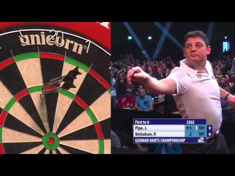 German Darts Championship Third Round Justin Pipe v Paul Nicholson