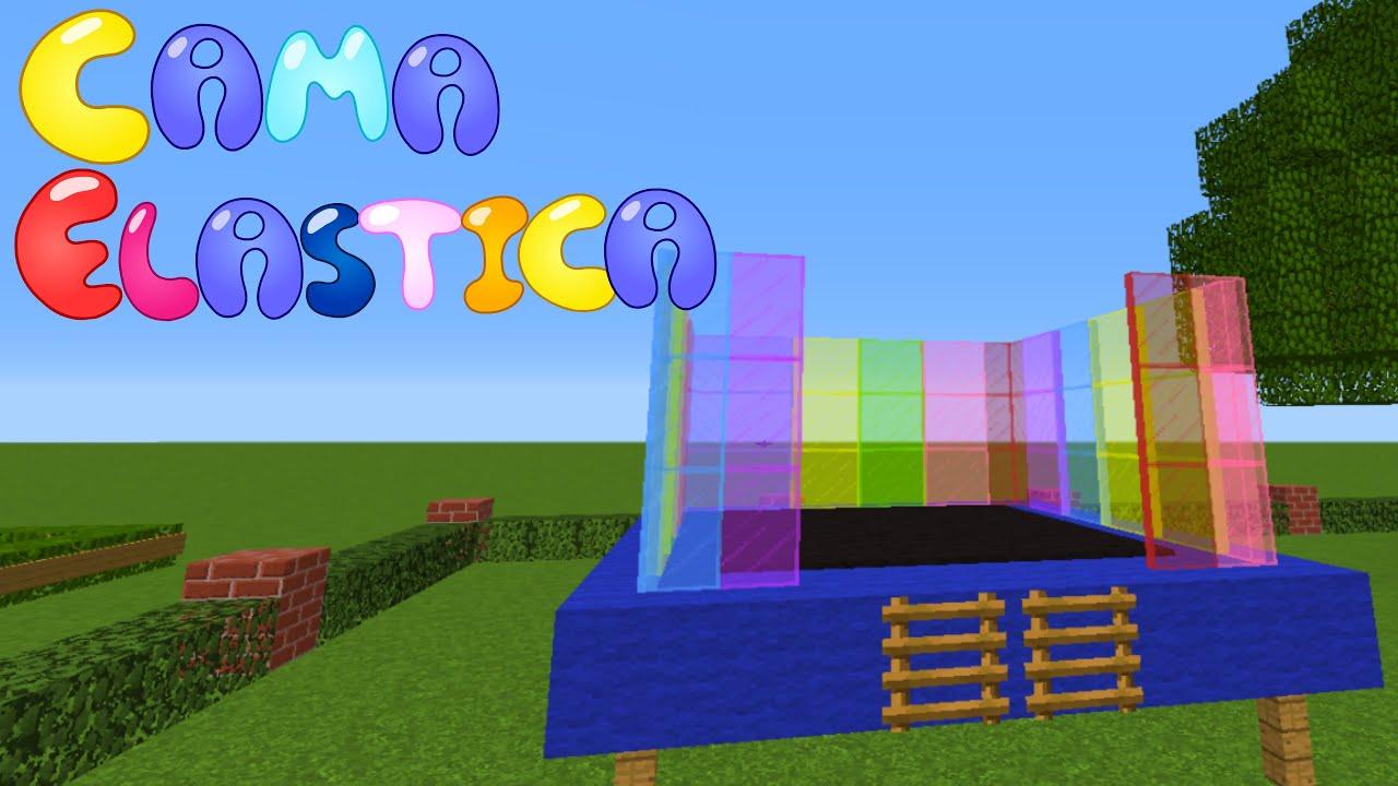 Minecraft tuturial como fazer uma cama el stica youtube for Cama minecraft