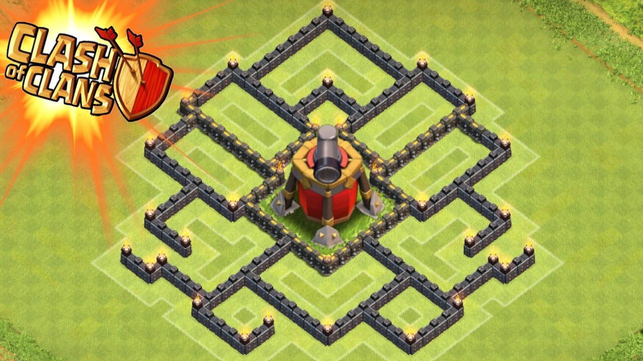 Clash Of Clans Air Sweeper Town Hall 7 Trophy Base Th7 New Update Air Sweeper Youtube