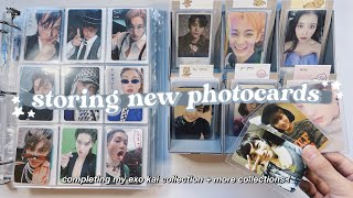 organizing + storing new kpop photocards in my binder ✰ completing my exo kai collection & more !