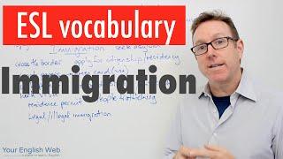 english vocabulary lesson b2   immigration   vocabulario en inglés