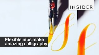 Flexible nibs are calligraphy game changers