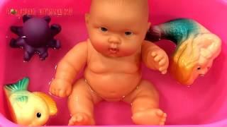 Пупс девочка в розовой ванночке Артикул С 735