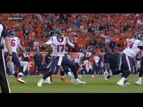 Brock Osweiler Throws Fumble?! - Broncos vs Texans (Week 7 MNF 2016) - NFL Highlights HD