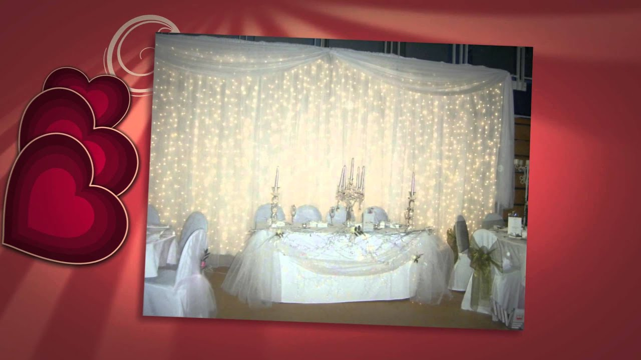 led curtain fairy light decoration for parties - YouTube