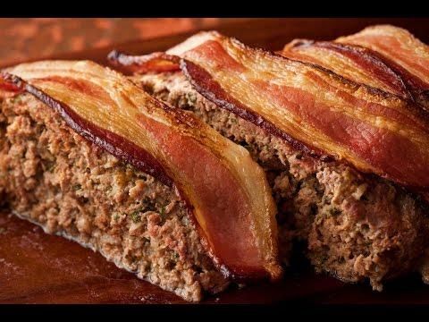 KETO Recipe: Goat Cheese Stuffed Bacon Meatloaf