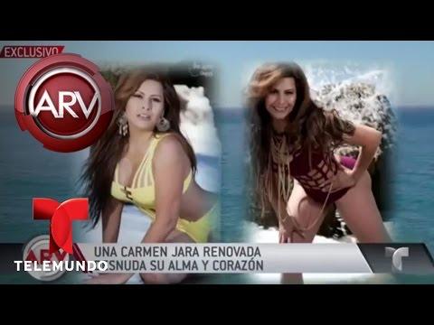 Carmen Jara se desnuda ante cámaras | Al Rojo Vivo | Telemundo