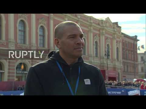 Russia: Football legends Collymore and Kewell talk football in St. Petersburg