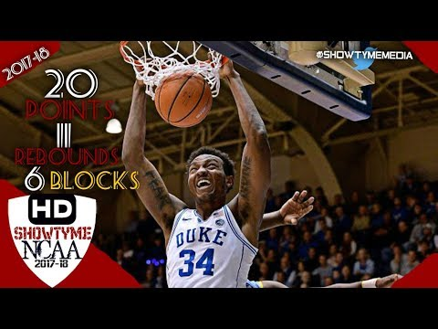 Wendell Carter Jr Full Highlights vs Southern 17.11.17 - 20 Pts 11 Rebs 6 Blks!
