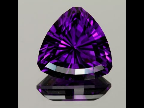 Worlds Finest Amethyst Trilliant 30.55 ct.