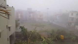 Wrath of Cyclone Vardah 130 Km/h wind speed
