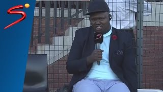Comedian Skhumba's commentary debut (very funny)
