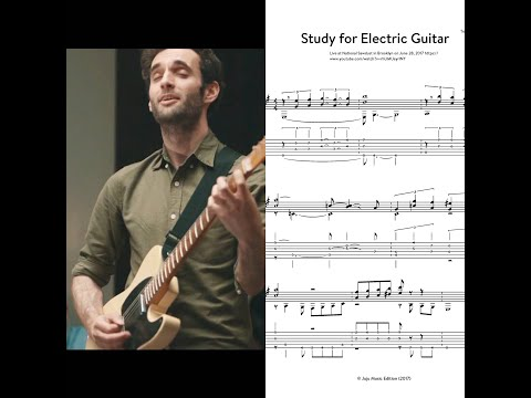 Study For Electric Guitar - Julian Lage (Transcription)