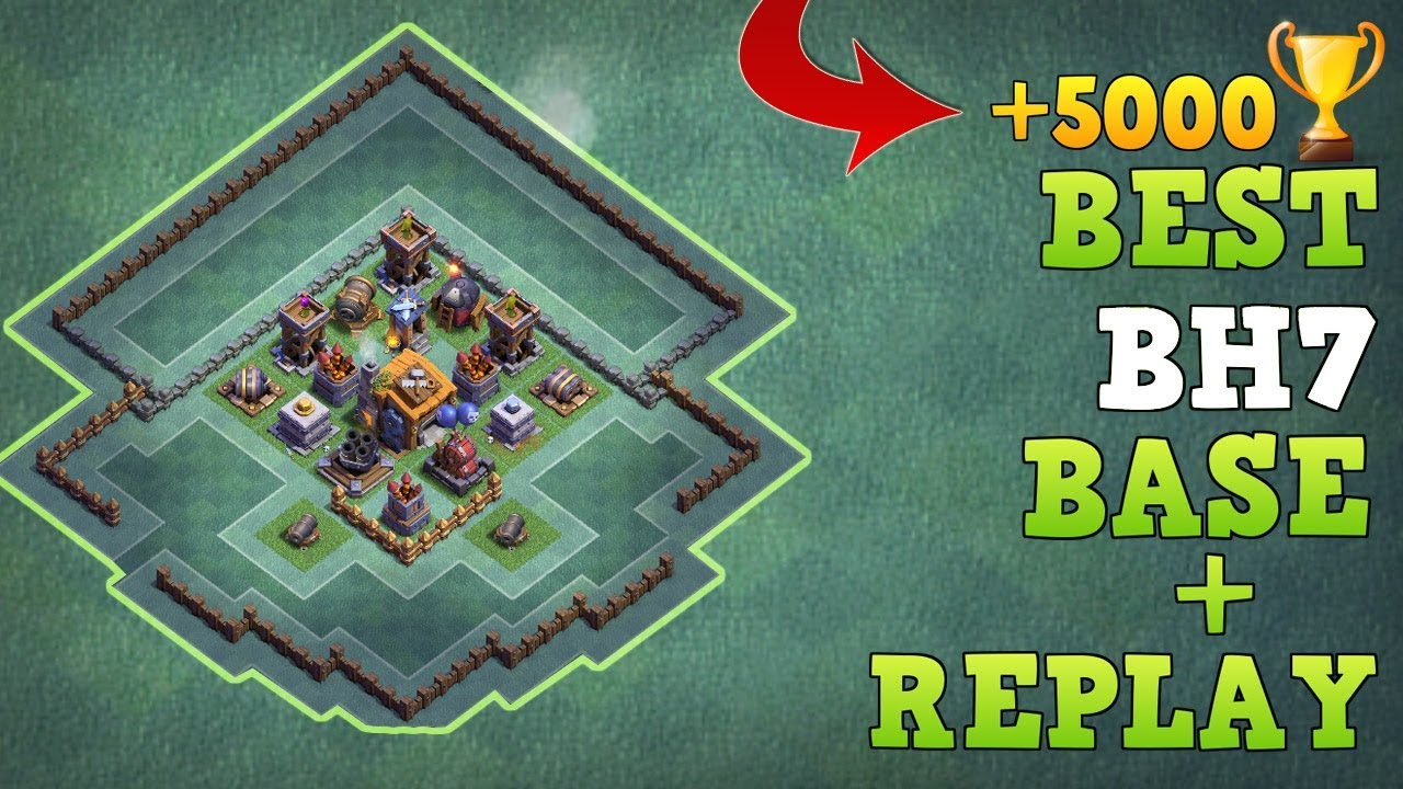 Best Builder Hall 7 Base W Replay Coc Bh7 Base New