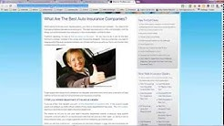 Auto Insurance in New York State -- Top 5 Companies