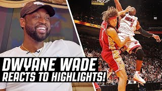 Dwyane Wade Reacts To Dwyane Wade Highlights | The Reel